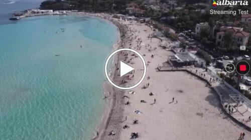 Palermo, la spiaggia di Mondello oggi 6 Febbraio vista dall'alto – VIDEO