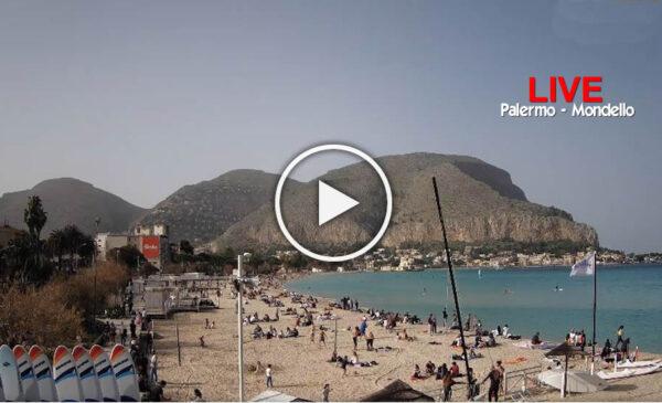 Webcam – 6 Febbraio caldissimo a Palermo: le immagini IN DIRETTA da una Mondello presa d'assalto – VIDEO