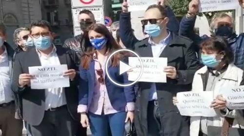 Ztl a Palermo, protesta della Lega questa mattina in via Roma – VIDEO