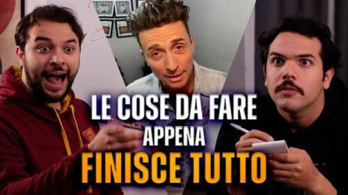 """""""Le cose da fare APPENA FINISCE TUTTO"""" L'esilarante VIDEO de 'I Sansoni' con Angelo Pintus"""