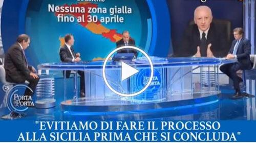 """De Luca e Zaia difendono Musumeci da Vespa: """"Chiese zona rossa, attendiamo per giudicare"""" – VIDEO"""