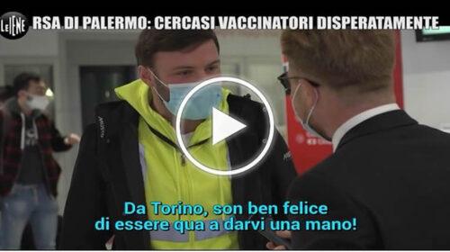 Infermieri d'Italia uniti per vaccinare gli anziani nelle rsa di Palermo – VIDEO