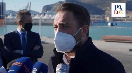 """Cancelleri visita il Porto di Palermo: """"Investimenti da 500 milioni"""" – VIDEO"""