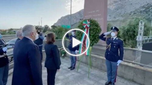 Il ministro Lamorgese a Capaci per ricordare le vittime della strage – VIDEO