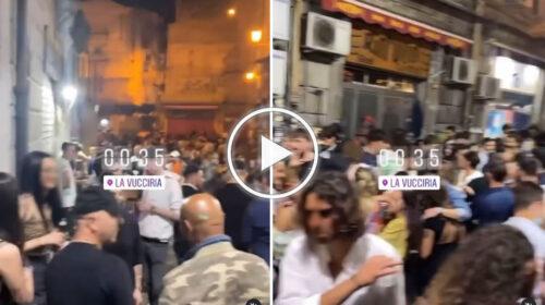 Sabato di movida e caos alla Vucciria di Palermo: folla in strada anche dopo il coprifuoco – VIDEO