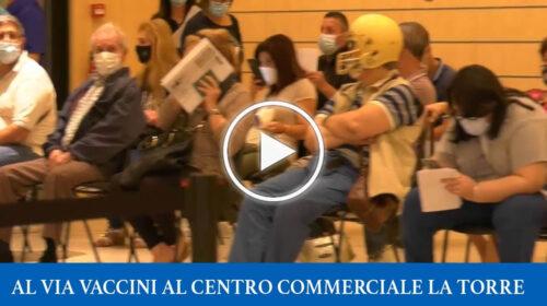 Covid19, apre hub vaccinale al centro commerciale La Torre, obiettivo mille vaccini al giorno – VIDEO