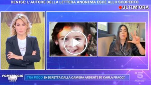 """Denise Pipitone, la svolta improvvisa a 'Pomeriggio 5': """"L'anonimo ha fatto nomi e cognomi"""" – VIDEO"""