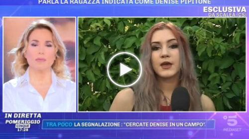 """""""Non sono io Denise Pipitone"""", la ragazza di Scalea gela tutti IN DIRETTA TV a """"Pomeriggio Cinque"""" – VIDEO"""
