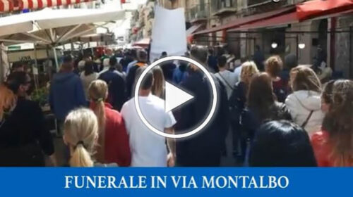 Giovanni morto a 24 anni, corteo in via Montalbo – VIDEO