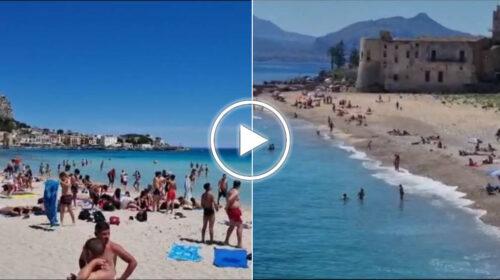 Si torna al mare, spiagge prese d'assalto a Palermo da Vergine Maria a Mondello – VIDEO