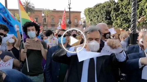 Aggressione omofoba, in tanti alla manifestazione per i diritti LGBTQ+ in piazza a Palermo – VIDEO