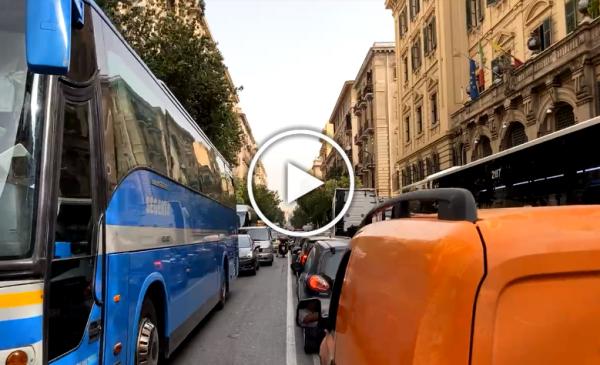 Foro Italico chiuso per lo Spot della Red Bull, automobilisti in trappola e traffico infernale – VIDEO