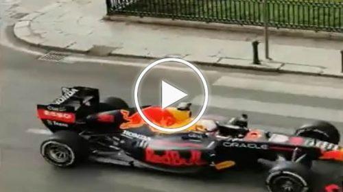 Formula 1, le immagini della Red Bull che sfreccia al foro italico chiuso alle auto – VIDEO