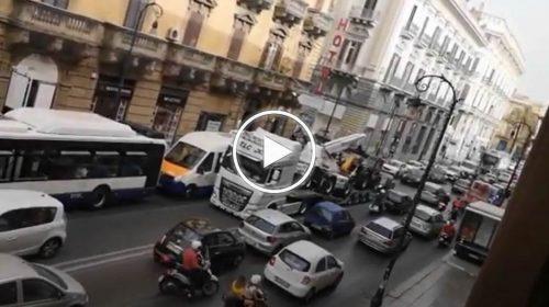 C'è lo spot con la monoposto: Foro Italico chiuso e traffico impazzito – VIDEO