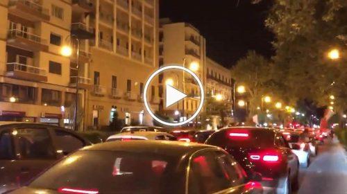 Italia in Finale, notte di festa a Palermo: colonna di auto in via Libertà – VIDEO