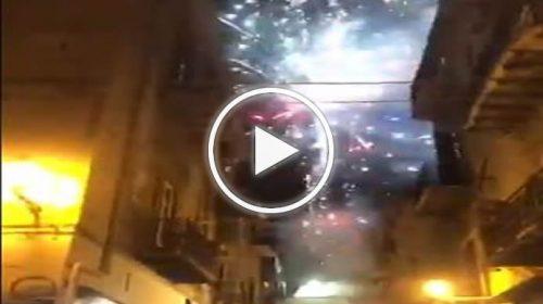 Notte di festa a Palermo, caroselli e fuochi d'artificio: le immagini – VIDEO