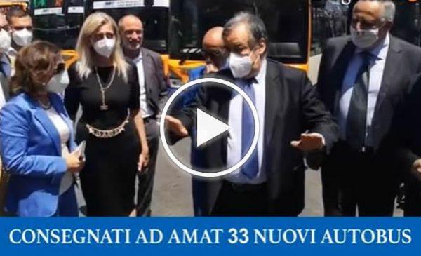 """Consegnati ad Amat 33 nuovi autobus, Orlando: """"Non lasciamoli al deposito"""" – VIDEO"""