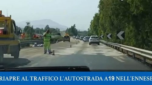 Riapre la autostrada A19 in direzione Palermo – VIDEO