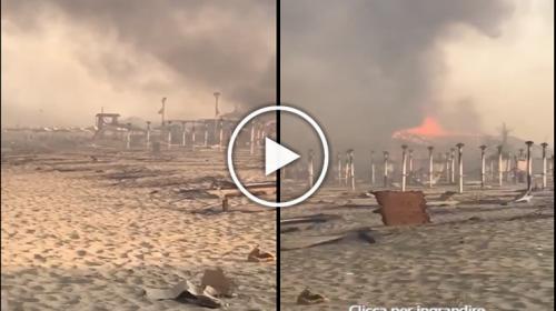 Gravissima la situazione incendi nella Sicilia Orientale: lido divorato dalle fiamme – VIDEO