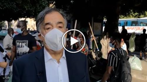 """Palermo, Ghanesi al lavoro per il decoro urbano, Orlando: """"Grande esempio"""" – IL VIDEO"""