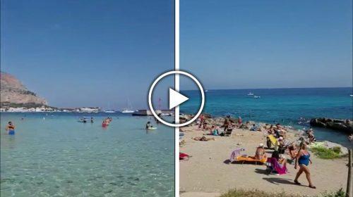 L'estate non finisce mai in Sicilia, +30°C e spiagge affollate: le immagini da Mondello all'Addaura – VIDEO 🎥