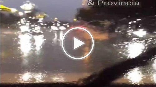 Forti e persistenti piogge su Palermo: le immagini da Viale Venere – VIDEO