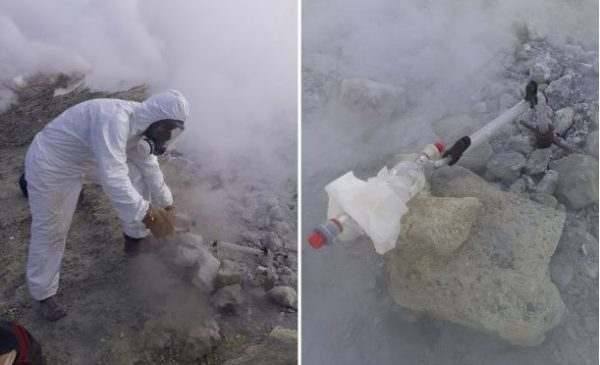 Allerta a Vulcano, monitoraggio del cratere, temperatura di 344 gradi – VIDEO